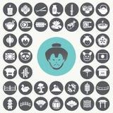 Iconos japoneses fijados Imagen de archivo