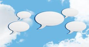 Iconos 4k de la burbuja del mensaje almacen de metraje de vídeo