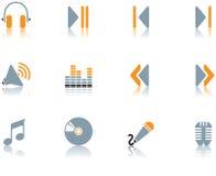 Iconos - la música fijó 3 Fotos de archivo libres de regalías