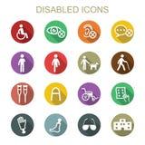 Iconos largos discapacitados de la sombra Imágenes de archivo libres de regalías