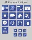 Iconos las TIC Foto de archivo