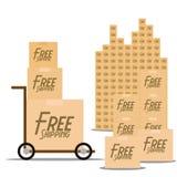 Iconos libres de la entrega aislados en el fondo blanco Fotografía de archivo libre de regalías