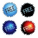 Iconos libres de la etiqueta engomada libre illustration