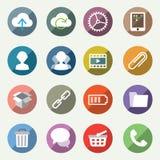 Iconos ligeros del vector fijados Fotografía de archivo libre de regalías