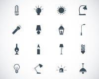 Iconos ligeros negros del vector Fotos de archivo libres de regalías