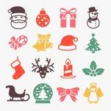 Iconos lindos de la Navidad libre illustration