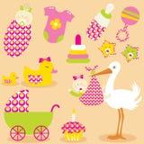 Iconos lindos del bebé libre illustration