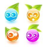 Iconos lindos del emoticon del vector stock de ilustración