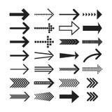 Iconos lineares de la flecha fijados Icono universal de la flecha Imagen de archivo libre de regalías