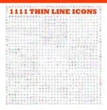 Iconos lineares del vector fijados de las herramientas de UI/UI Fotos de archivo libres de regalías