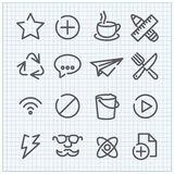 Iconos lineares del vector moderno fijados Foto de archivo libre de regalías