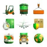 Iconos logísticos fijados Imagen de archivo libre de regalías