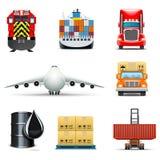 Iconos logísticos y del transporte   Serie de Bella Foto de archivo libre de regalías