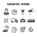 Iconos logísticos Foto de archivo