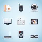 Iconos los periférico de ordenador Imagen de archivo libre de regalías