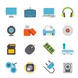Iconos los periférico y de los accesorios de ordenador