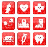 Iconos médicos Foto de archivo libre de regalías