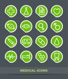 Iconos médicos Imágenes de archivo libres de regalías