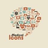 Iconos médicos Foto de archivo