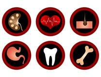 Iconos médicos. Foto de archivo