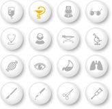 Iconos médicos Fotografía de archivo libre de regalías