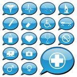 Iconos médicos ilustración del vector