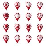 Iconos médicos con la ubicación icon01 Foto de archivo libre de regalías