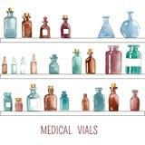Iconos médicos de la acuarela Fotografía de archivo libre de regalías