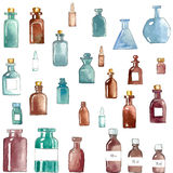 Iconos médicos de la acuarela Imagen de archivo libre de regalías
