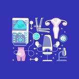Iconos médicos de la ambulancia ilustración del vector