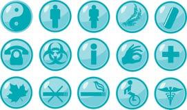 Iconos médicos de las muestras Imagen de archivo