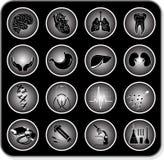 Iconos médicos del vector Imagen de archivo libre de regalías