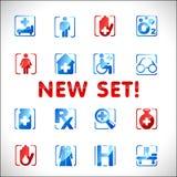 Iconos médicos del vector. Conjunto 3 Fotos de archivo