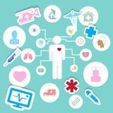 Iconos médicos, ejemplo EPS 10 Imagen de archivo