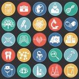 Iconos médicos fijados ilustración del vector