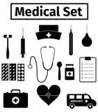 Iconos médicos fijados Imagen de archivo libre de regalías
