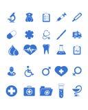 Iconos médicos fijados Fotografía de archivo libre de regalías