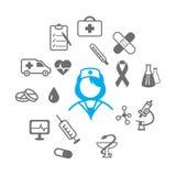 Iconos médicos fijados Fotos de archivo
