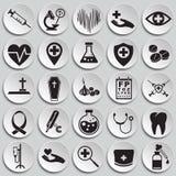 Iconos médicos fijados en fondo libre illustration