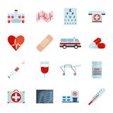 Iconos médicos simples fijados Icono médico universal a utilizar para el web y UI móvil Fotos de archivo libres de regalías