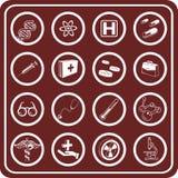 Iconos médicos y científicos. Imagen de archivo libre de regalías