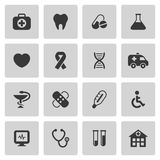 Iconos médicos y de la atención sanitaria fijados Imágenes de archivo libres de regalías