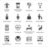 Iconos médicos y de la atención sanitaria - sistema 2 Fotografía de archivo libre de regalías