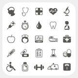 Iconos médicos y de la salud fijados Imagenes de archivo