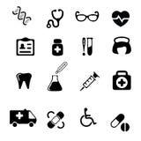 Iconos médicos y de la salud fijados Foto de archivo libre de regalías