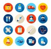 Iconos médicos y del cuidado médico Imagen de archivo libre de regalías