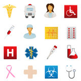 Iconos médicos y del cuidado médico Foto de archivo libre de regalías