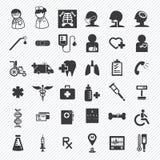 Iconos médicos y del hospital fijados Foto de archivo