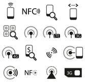 Iconos móviles de la red fijados ilustración del vector