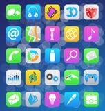 Iconos móviles del app del estilo del IOS 7 Imagenes de archivo